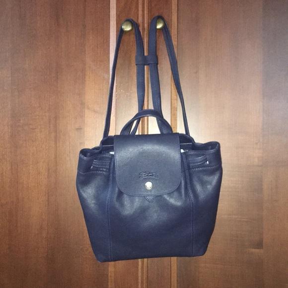 Longchamp Handbags - NWOT Longchamp Le Pliage Cuir leather backpack 9f194c176db